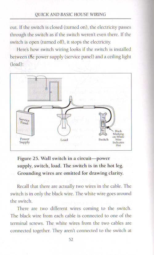 QB_Housewiring_p_52 book, manual on quick & basic house wiring, switches, wiring basic house wiring books at nearapp.co